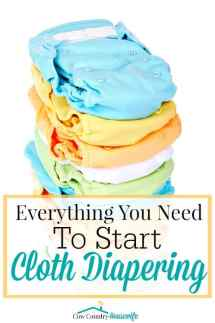 """""""Wait... you WASH your diapers?!"""" Yes and I LOVE it! Cloth diapering has been one of the best things I've done! And It's saved me a TON of money! Here's everything you need to get started..."""