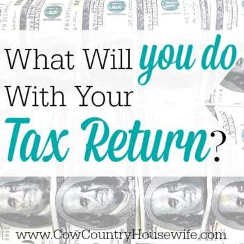 What Will YOU Do With Your Tax Return?