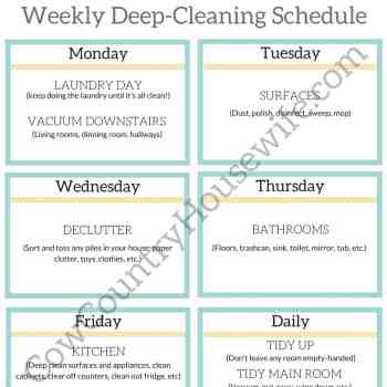 Deep-Clean With 1 Chore a Day (FREE Printable)