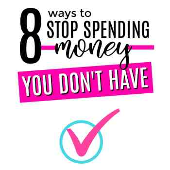 Living pay-check-to-paycheck is exhausting. Here's the question you need to ask: How do you stop spending money? Here's how to do it!