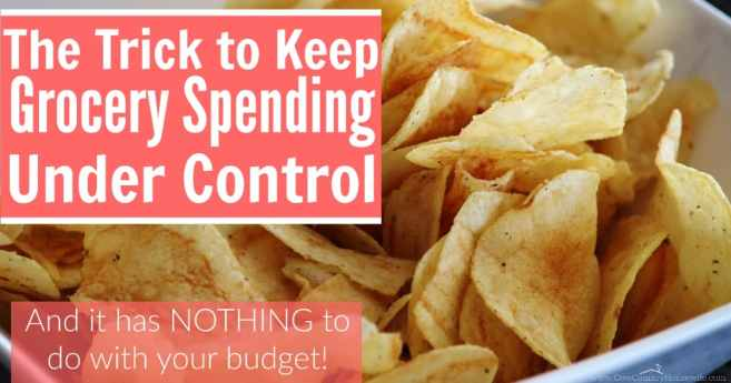By doing this one crazy trick, you can keep grocery spending under control. And it has nothing at all to do with your budget!