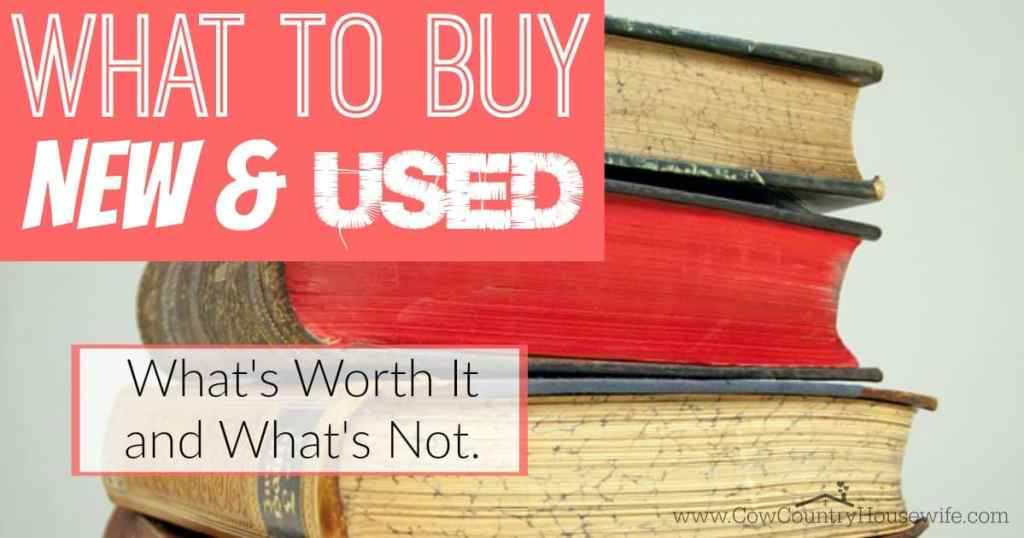 Did you know that there are somethings that you should NEVER buy used? I never realized that! Here's a great start to deciding whether to buy new or used!