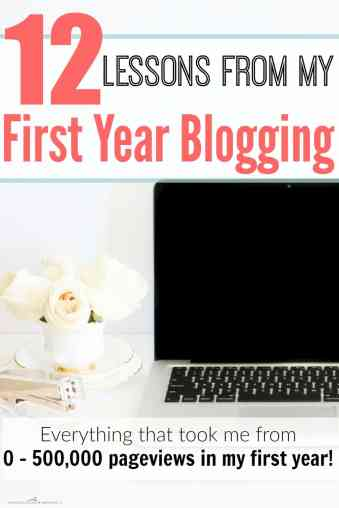 She shares EVERYTHING that she did to get from 0 - 500,000 pageviews in ONE year! This is great! Lessons From My First Year Blogging