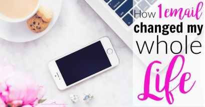 1 email changed my whole world. It might sound cliche, but it's true! One email was all it took to get me started blogging. That was all it took, and my life has never been the same. How 1 Email Changed My Whole Life