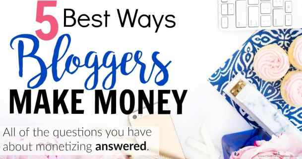 If you're looking to monetize your blog but you don't know where to start, this is a great guide! She lists the top 5 ways that bloggers earn income and the sites that you can use to get started making money for your own blog! How Bloggers Make Money