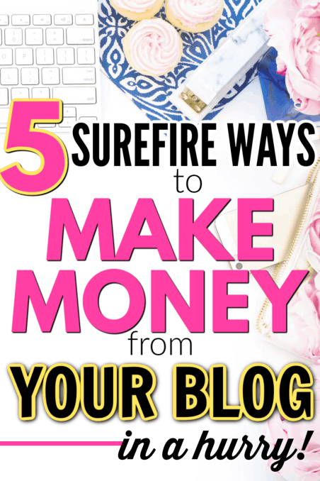 How to start making money from a brand new blog that's perfect for new bloggers who want to make money from their blogs fast. How to make money starting a blog from the beginning. The best and easiest ways to make money from a blog simple and easy.