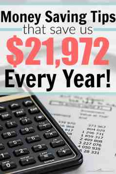 She ACTUALLY saves $21,972/ year using these tips! This is CRAZY! Every little thing adds up! I can't wait to try these out in my house! Money Saving Tips That Helped Us Save $21,972 Every Year.