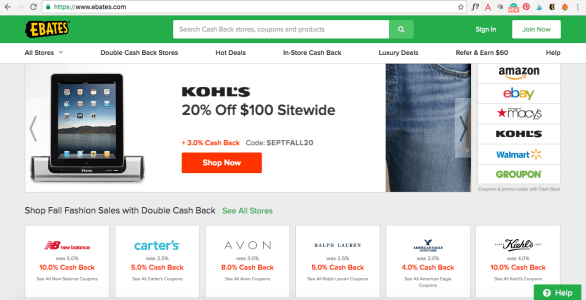 Have you signed up for Ebates yet?