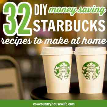 30+ Starbucks Copycat Recipes to save you money and to make it at home. 32 DIY Money Saving Starbucks Recipes to Make at Home