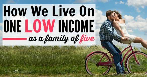 How to live on one income. This family of fixe lives on one low income and still manages to save money and live frugally. Frugal living is easier when you have a goal. Save money, live fully.