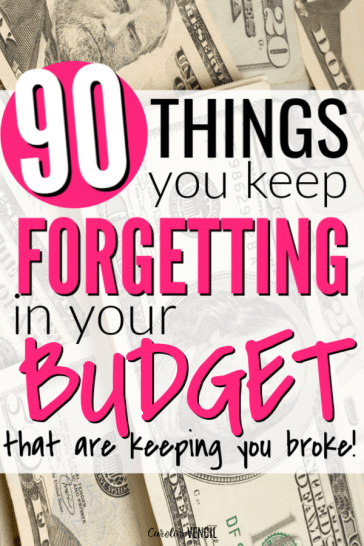 Feel like you suck at budgeting and don't know why or where to start a budget that will actually work? Maybe you're forgetting about all of these things you need to include in your budget each month. This complete list of everything you need to add to a budget is perfect for fast, quick and easy budget making for beginners. Dave Ramsey would approve of these to help start saving money! These budget categories are perfect for my family!