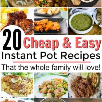 These are AMAZING! I love all of these cheap and easy Instant Pot Recipes. These are some of my family's favorite recipes now! These are all the best Instant Pot recipes. These are cheap, easy and healthy instant pot meals that you will want to try tonight! Family friendly instant pot recipes.