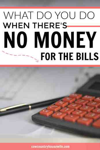 What do you do when there's no money for the bills? It's a really scary situation, but she has some amazing ideas and advice! This came up just when I needed it! Everything you need to know when you're in money trouble.