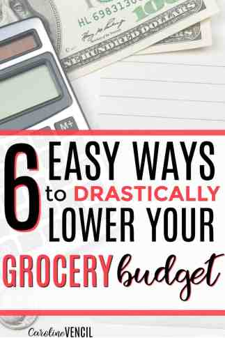 These are so great! If you need easy steps to take to lower your grocery budget, these are perfect! Easy steps to take to lower your grocery budget. Fast ways to lower your grocery bill. Easy ways to get your grocery budget under control. 6 Steps to Drastically Reduce Your Grocery Budget. Lower grocery budget. Easy ways to save money on groceries. Fats way to save on groceries.