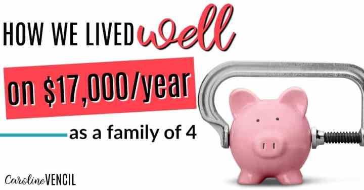 This is so inspirational! She shares how her family of 4 lived off of $17,000 each year! Easy ways to save more money. Learn how to save money. How to save on a low income. How to live on a ow income. How to live well on any income. How to live well on a low income. Personal finance tips for a low income. How can a family of four live well on $17,000/year? It's possible and no matter how much income you earn, you can learn a few things that will help you get control of your money. How We Lived Well on $17,000 as a Family of Four.