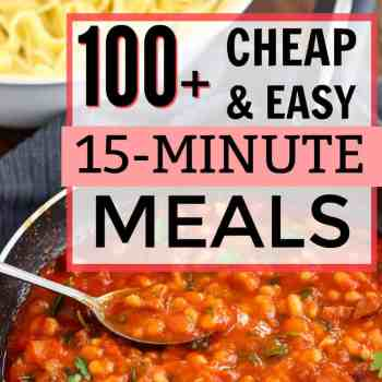 100+ Cheap and Easy 15-Minute Meal Ideas