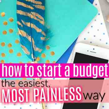 How to Start a Budget the Easy Painless Way