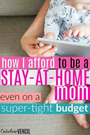 This is exactly what I needed to read!! This is such hope to afford to be a stay at home mom! I'm so happy that someone finally wrote about this! She has the best money saving blog. She's always posting great ideas and this is perfect for anyone who has been trying to figure out how to make it work as a stay at home mom on one salary.