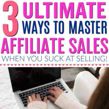 This is the best!! I love how she talks about affiliate sales in a super easy way! Blogging and affiliate marketing don't have to be scary! Here's how to master affiliate sales even when you suck at selling! Make money from home blogging. How to make money blogging. Easy ways to make money blogging. How to start using affiliate marketing for new bloggers. How to make money when you suck at selling when you blog. The Top 3 Selling Styles For When You SUCK at Selling!