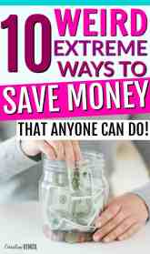 These are such great ideas!! You NEED to check out these crazy ways to save money! But they aren't too weird. They are all really great ideas for places that you'd never thought of to save money! Great frugal living tips and tricks to try out for yourself today! 10 Weird Ways to Save Money,Interesting Ways To Save Money