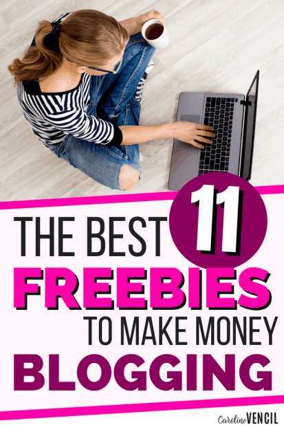 The best blogging printables, ebooks and coures that you can get for free to learn how to make money blogging. If you want to start a blog on a budget, this is perfect for you. Make money from your blog fast. #blog #blogging #makemoney #workathome #income