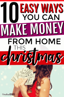 How to make money from home around the Christmas holidays while staying at home. Best work from home jobs around the Christmas holidays. #workfromhome #Christmas #makemoney #earnmoney