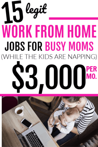 Best ways to make money from home as a busy stay at home mom. Find real, legit ways to make money working at home that aren't scams or MLMs but that will actually let you make your own hours and be your own boss.