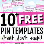 10 + FREE Canva Pinterest Templates