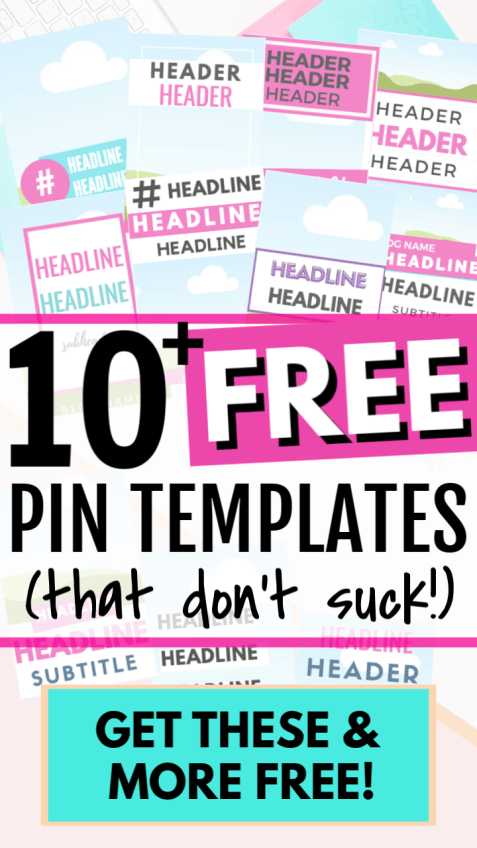 Rock your Pinterest strategy with these pre-designed, fully customizable FREE Pinterest pin templates. Easy and beautiful Canva templates to create and design click worthy pins that work. Free pin templates for bloggers and online entrepreneurs with tutorial and instructions how to use them. Great for new bloggers to start using Pinterest. Freebies for bloggers.