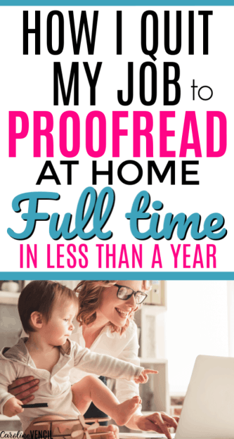 How to Make Money From Home as a Proofreader. Making money at home as a mom by proofreading. Easy way to start proofreading as a full time job for beginners to make extra money. Work at home jobs that are legit and real ways to work from home for beginners and busy moms looking for a new side hustle.