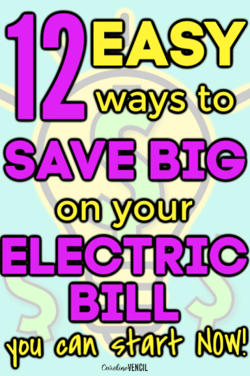 Easy tips and tricks on how to save electricity and save money on your electric bill every month. I have found these money saving tips great for my house, especially in the winter and summer. Simple, easy tricks to save on electric bill. I cut my electric bill in half by doing these simple tips at home. Here are 12 ways to save money on your electric bill and your utility bills. #savemoney