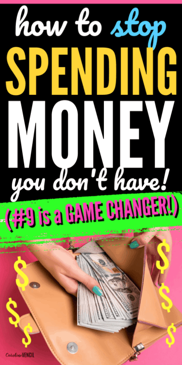 How to Stop Spending Money You Don't Have when you live on a tight budget or live paycheck to paycheck on one low income. A great way to learn how to start working on a budget that will work for beginners. Easy ways to save money and live frugally. Tips tricks and ideas to help start saving money or to save more money than you are for beginners.