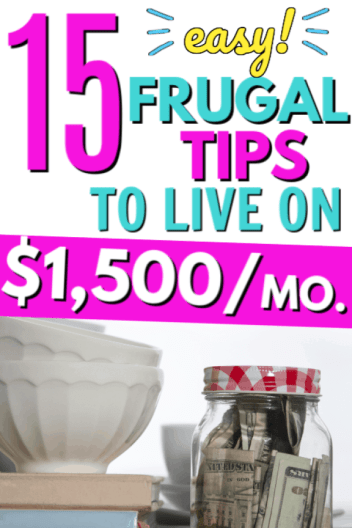Frugal living tips tricks hacks and ideas to help start living frugally when you're a beginner and don't knwo how to start saving money. How to live frugally on one low income. Best tips for living on a tight budget when you don't make a lot of money.