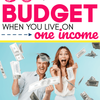 50 Clever ways to save and live well on one income as a family. The best tips, tricks, ideas and hacks for frugal living on one low income for a big family. How to start living on one income when it seems impossible or too hard.