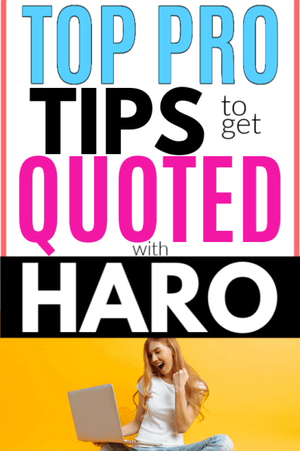 How to Get Picked On HARO and Why Your Blog Needs It for SEO Backlinks. The best free and easy way  to get quoted in major news sources and outlets to get your blog seen by tons more people and grow your influence without being sleazy or scammy.