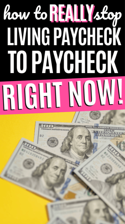 Learn how to stop living paycheck to paycheck for beginners who need to find the best tips, tricks and ideas to break the paycheck-to-paycheck cycle. Great ways to save more this year!