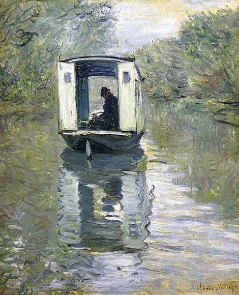 486px-Monet_boat_studio_1876 Art Author's Blog Writing