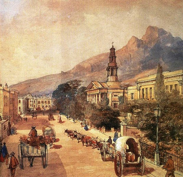 620px-St_Georges_Cathedral_Cape_Town_-_Cape_Colony_1800s_-_watercolour_by_Bowler Author's Blog Books Marketing Travel Writing
