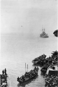 602px-Auckland_Battalion_landing_at_Gallipoli_Turkey_during_World_War_I_25_April_1915-201x300 Author's Blog Guest Author Highlighting Historical