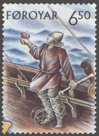 Faroe_stamp_407_helmsman Author's Blog Highlighting Historical