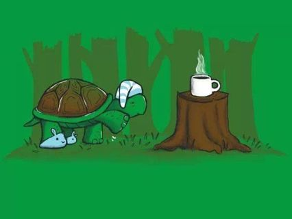 fffa3330130545f3eec1b8970aaf7727-morning-coffee-funny-funny-turtle-1 But First Coffee