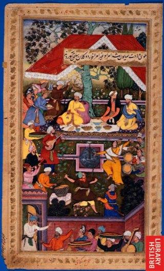 1508-Babur_celebrates_the_birth_of_Humayun_in_the_Chahar_Bagh_of_Kabul Highlighting Historical Romance