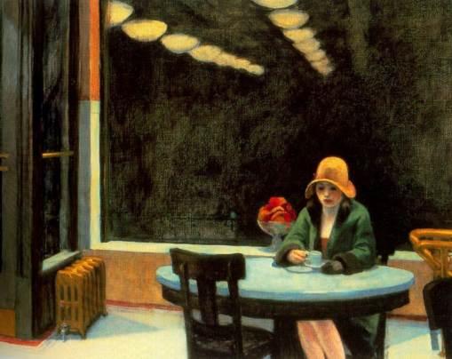 Automat-edward-hopper-1927 But First Coffee