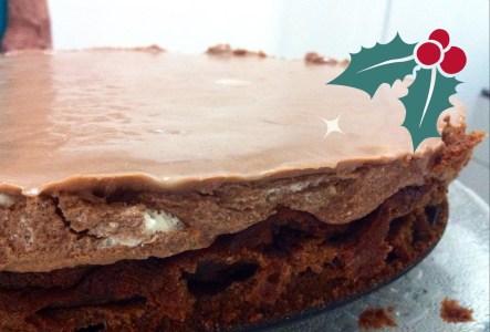 262. Bolo mousse de chocolate, com chocolate e chocolate
