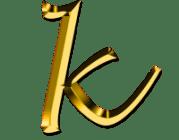 Le mariage de K avec une lettre riche X/Y/Z