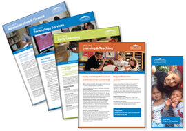 Flyer and brochures for PSESD