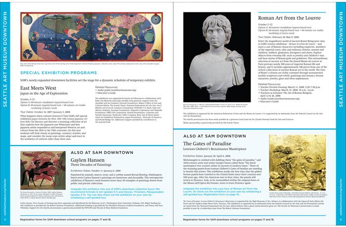SAM School & Teacher Programs, pages 3-4