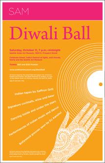 Initial Diwali Ball poster