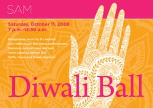 Diwali Ball postcard