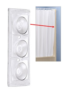 shower liner with suction cups